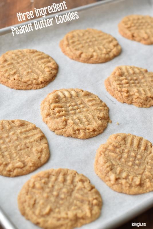 three ingredient peanut butter cookies | NoBiggie.net
