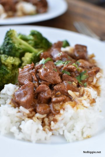 Easy Crock Pot Beef Tips