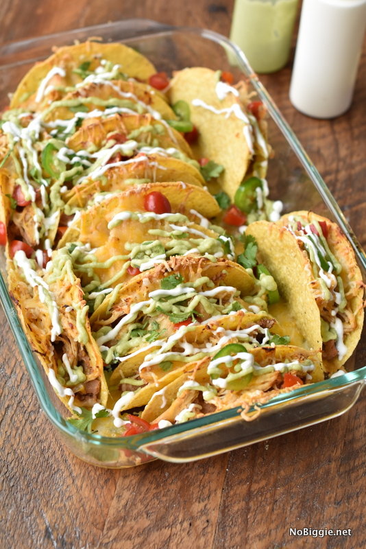 Crock Pot Chicken Baked Tacos | 25+ ways to Feed a Crowd