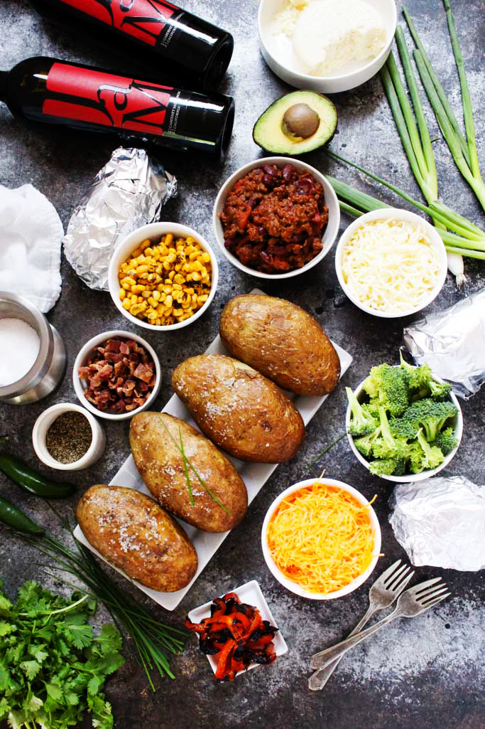 Grilled Baked Potato Bar | 25+ ways to Feed a Crowd