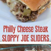 Philly Cheese Steak Sloppy Joe Sliders