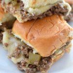 Philly Cheese Steak Sloppy Joe Sliders | NoBiggie.net