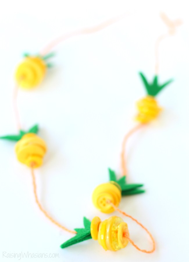 Pineapple kids craft | 25 + MORE Summer Crafts for Kids