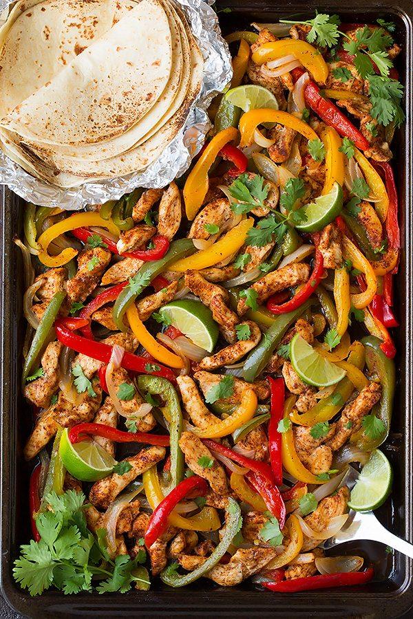 Sheet Pan Chicken Fajitas | 25+ ways to Feed a Crowd