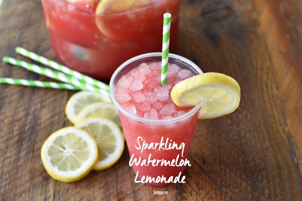 Sparkling Watermelon Lemonade | NoBiggie.net
