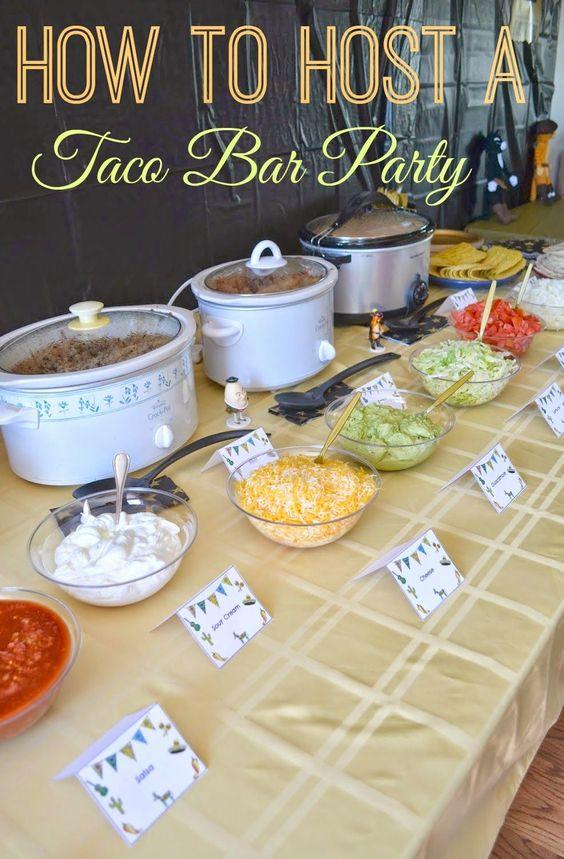 Taco Bar | 25+ ways to Feed a Crowd