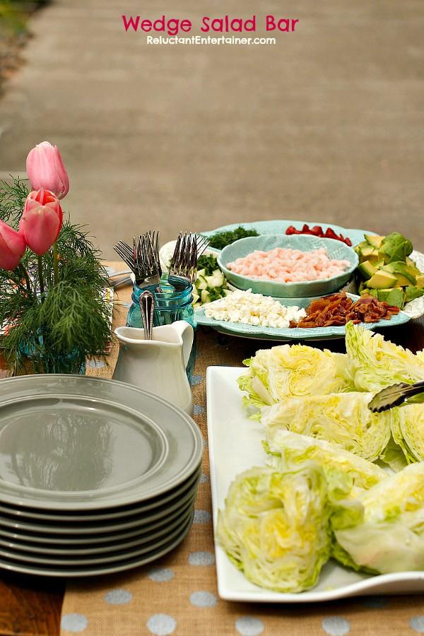 Wedge Salad Bar | 25+ ways to Feed a Crowd