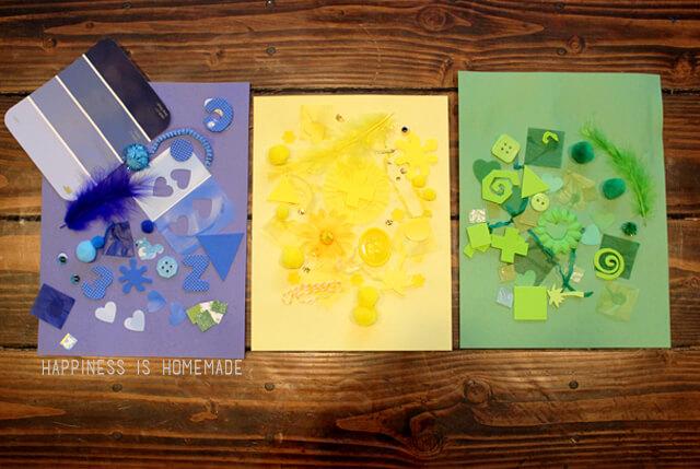 Color Collage Art | 25+ MORE Summer Crafts for Kids