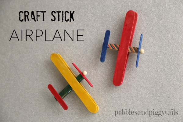 Craft Stick Airplane | 25+ MORE Summer Crafts for Kids