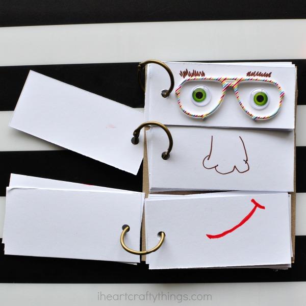 DIY Funny Face Flip Book | 25+ MORE Summer Crafts for Kids
