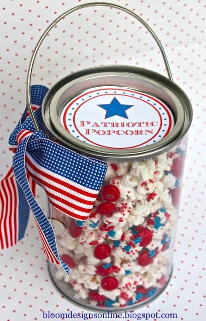 patriotic popcorn | 25+ MORE 4th of July party ideas