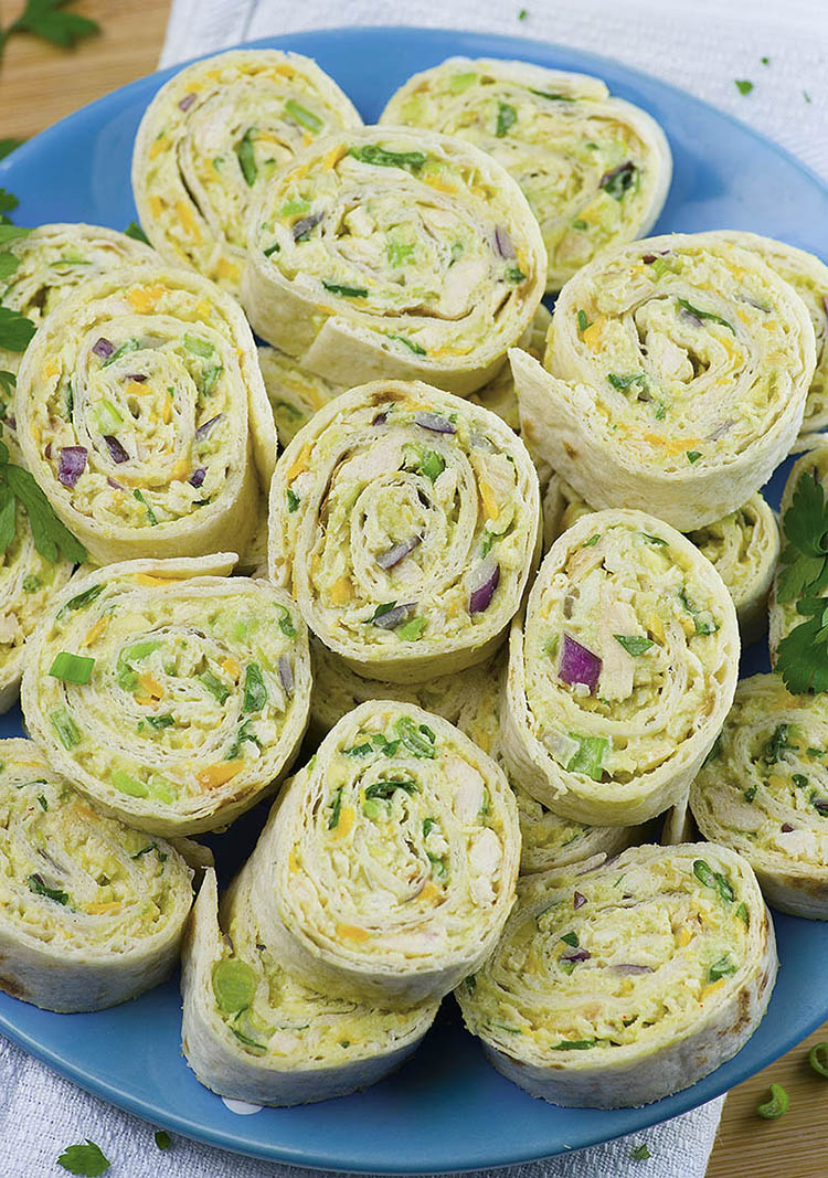 Chicken Avocado Salad Roll Ups | 25+ Rollups and Pinwheels