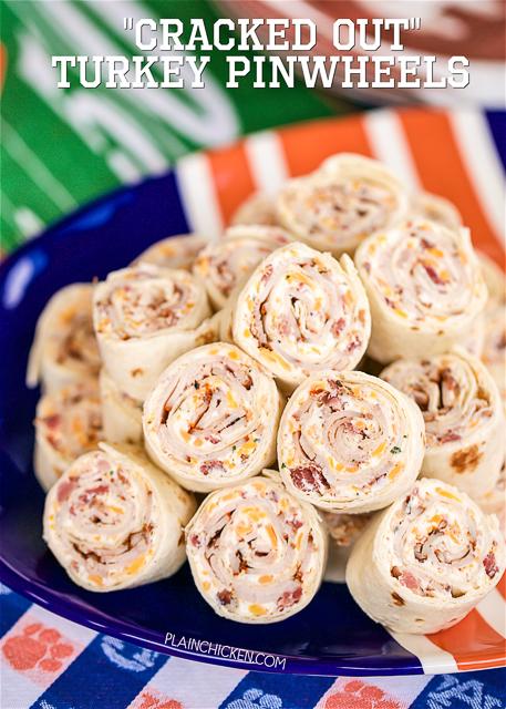 Cracked Out Turkey Pinwheels | 25+ Rollups and Pinwheels