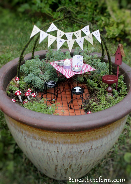 Happy Birthday Picnic Fairy Garden | 25+ Fabulous Fairy Garden