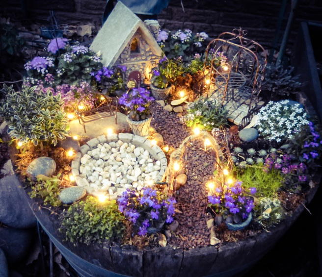 Magical Lights Fairy Garden | 25+ Fabulous Fairy Garden