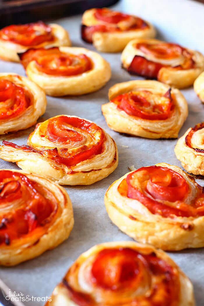 Puff Pastry Bacon Pinwheels with Cheddar | 25+ Rollups and Pinwheels