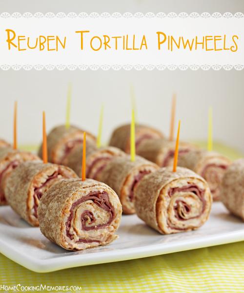 Reuben Tortilla Pinwheels | 25+ Rollups and Pinwheels
