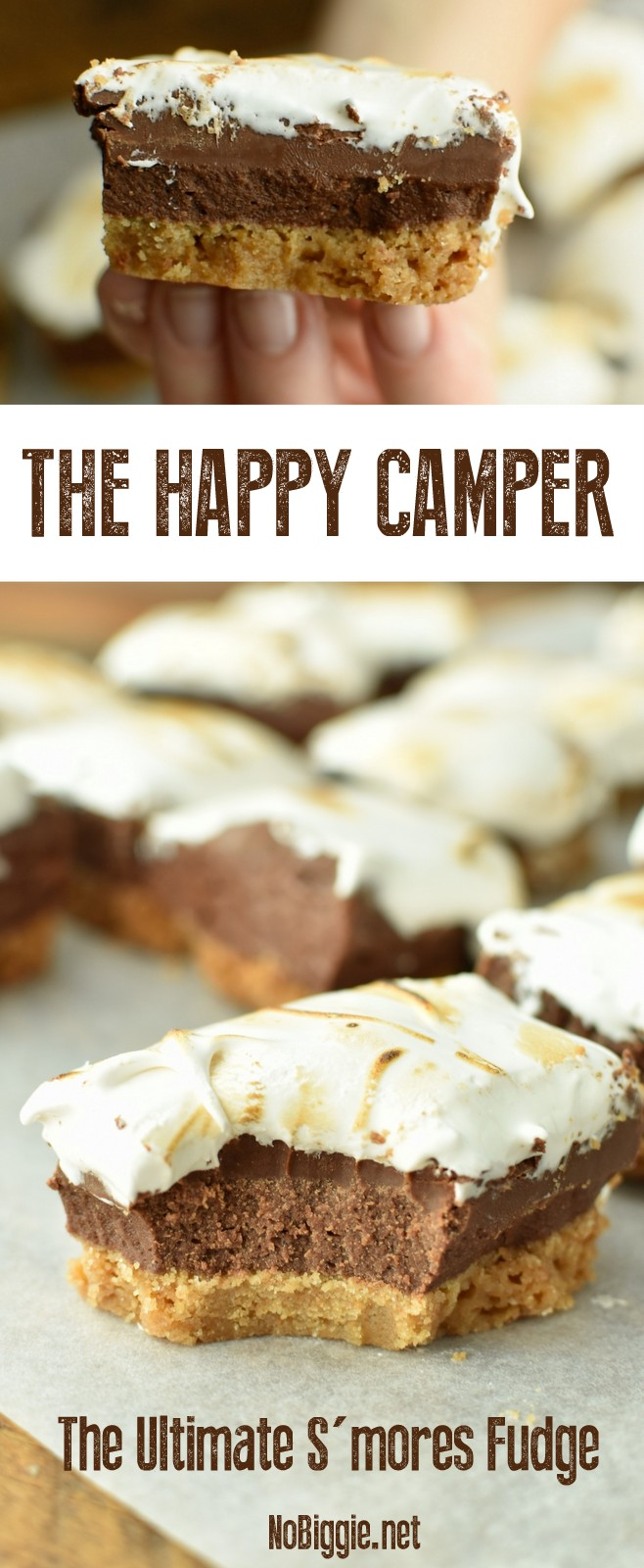 The Happy Camper | The Ultimate S'mores Fudge | NoBiggie.net