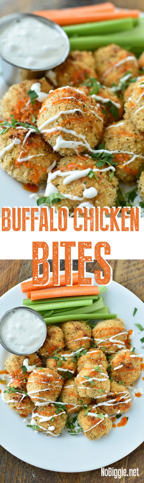 Buffalo Chicken Bites - They are sure to please the crowd. #Buffalochickenbites #buffalochicken #gamedayeats #chickenrecipes #chicken