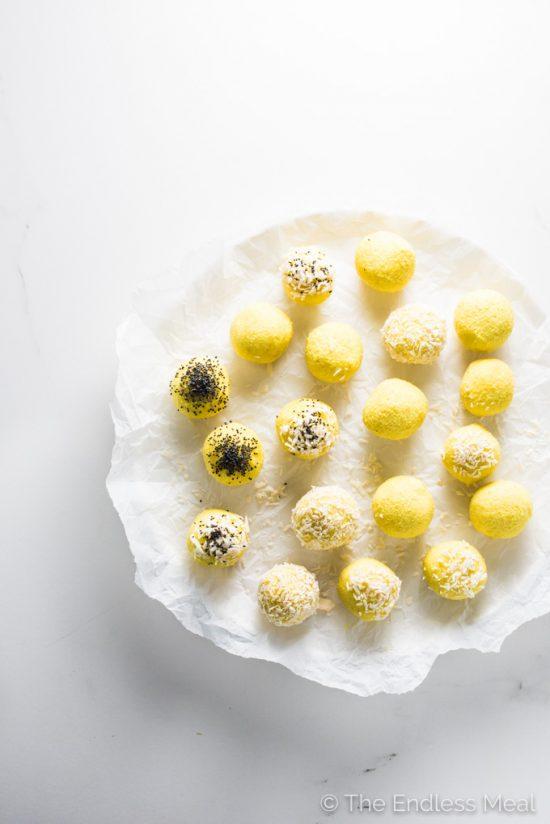 Coconut Lemon Energy Balls | 25+ Energy Bites