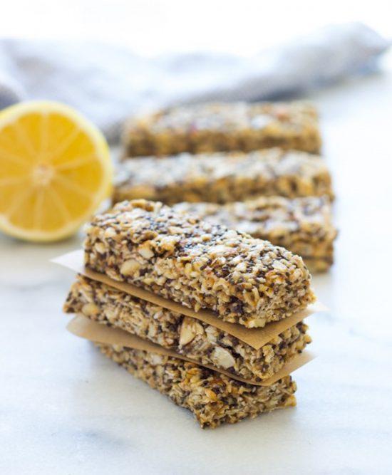 25 Homemade Granola Bars Nobiggie