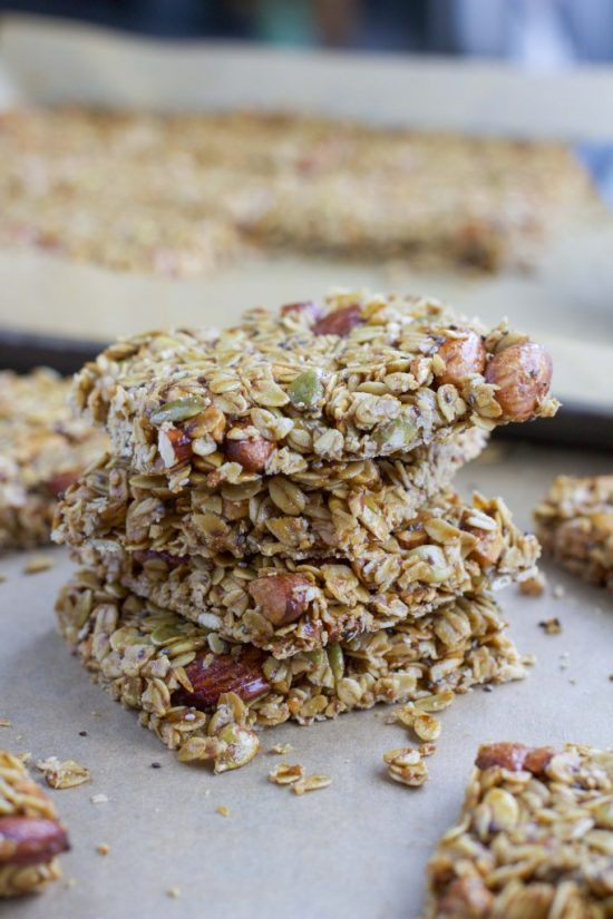 Loaded Nuts and Seeds Granola Bars | 25+ Granola Bars