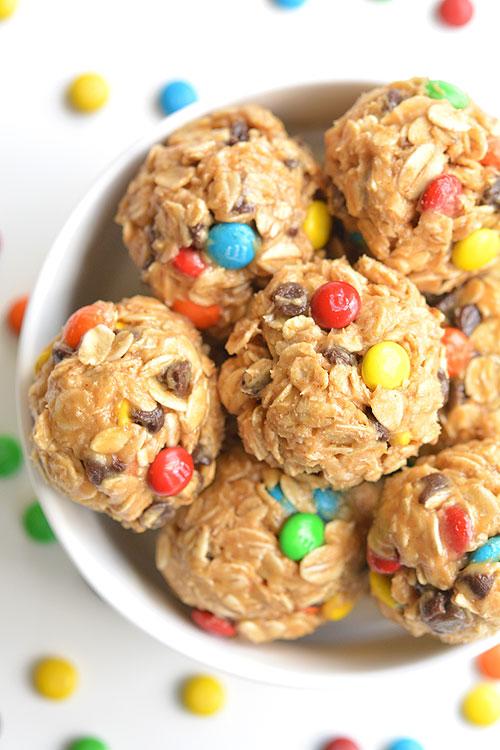 No Bake Monster Cookie Energy Bites | 25+ Energy Bites