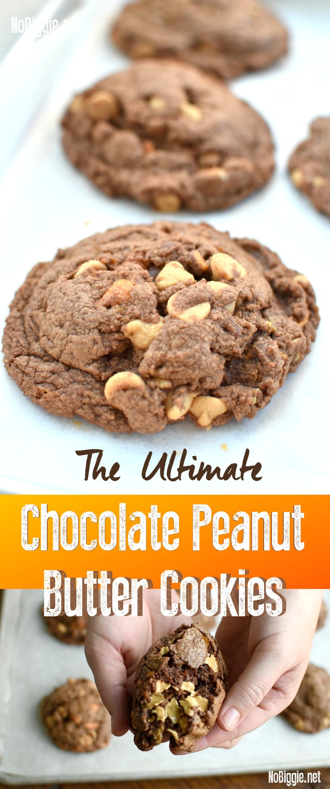 The Ultimate Chocolate Peanut Butter Cookies | NoBiggie.net