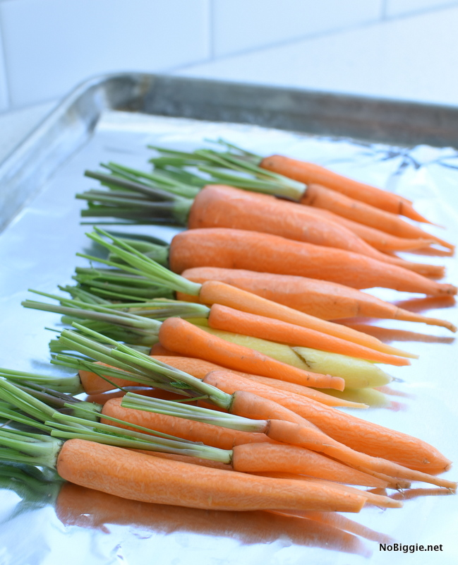 carrots ready for roasting