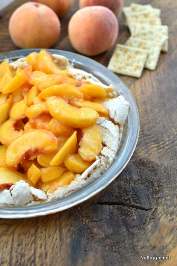 fresh peach soda cracker pie | NoBiggie.net