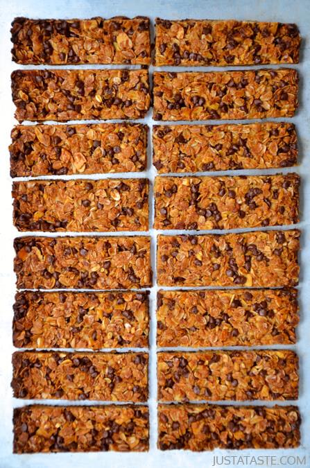 Healthy Chocolate Chip Granola Bars | 25+ Granola Bars