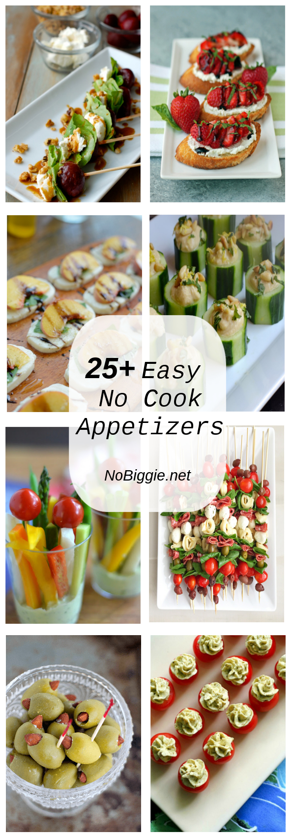25+ Easy No Cook Appetizers | NoBiggie.net