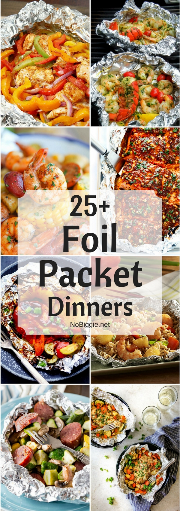 Foil packet dinners -  Easy dinner options for those busy nights. #foilpackets #easydinners #dinnerrecipes #dinner #foilpacketmeals