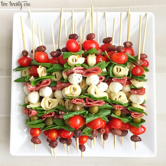 Antipasto Skewers | 25+ Easy No Cook Appetizers