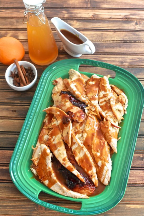 Apple Cider Glazed Turkey Breast | 25+ Autumn Apple Recipes
