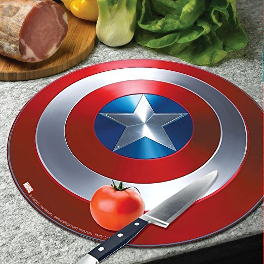 Captain America Sheild Cutting Board | 25+ Fun Kitchen Gadgets