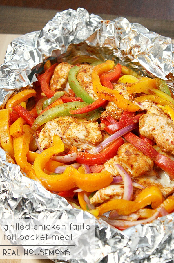 Chicken Fajita Foil Packets | 25+ Foil Packet Dinners