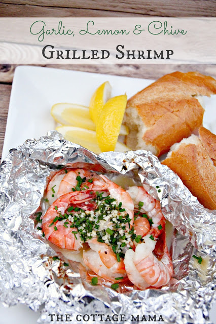 Garlic, Lemon and Chive Grilled Shrimp | 25+ Foil Packet Dinners