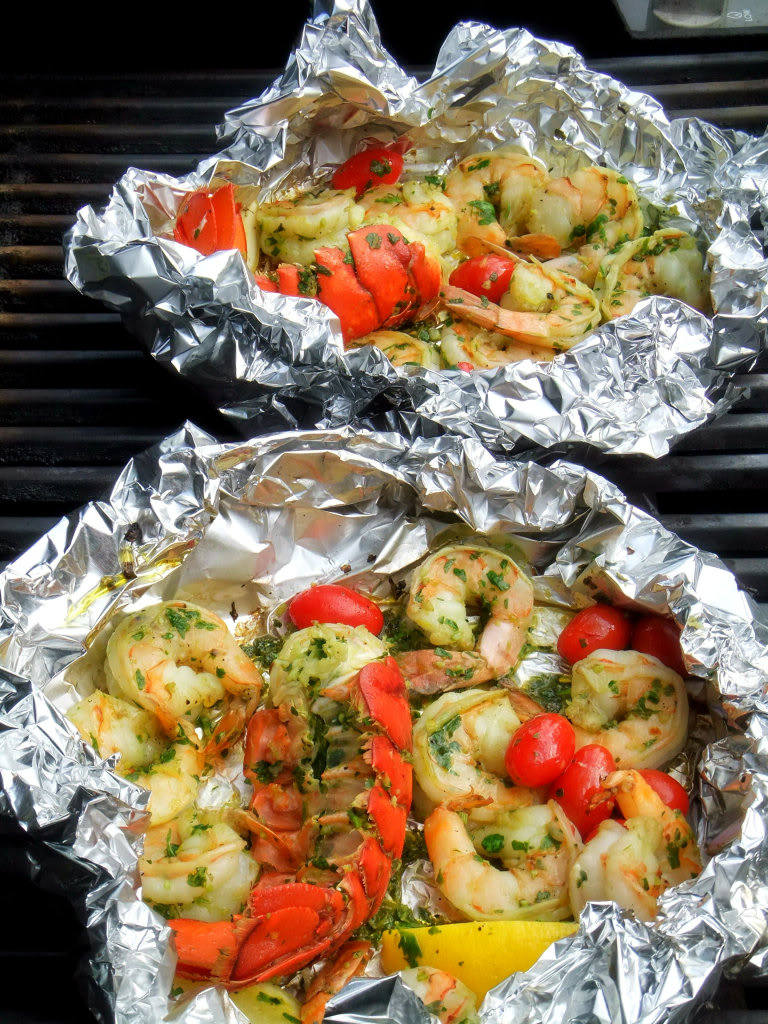 Grilled Shrimp and Lobster Gremolata | 25+ Foil Packet Dinners
