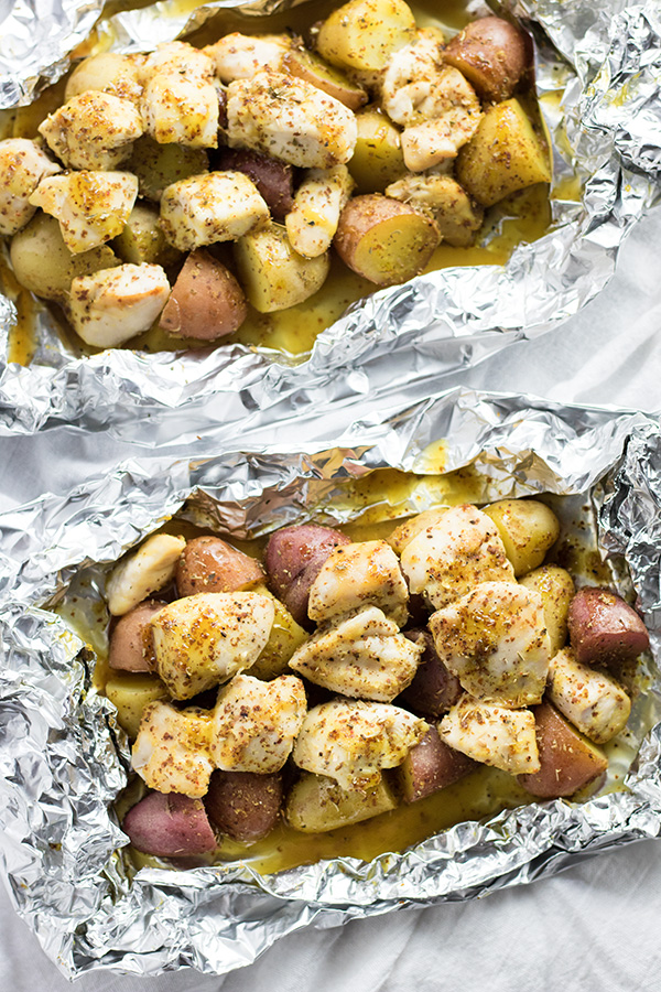Honey Mustard Chicken Foil Packets | 25+ Foil Packet Dinners