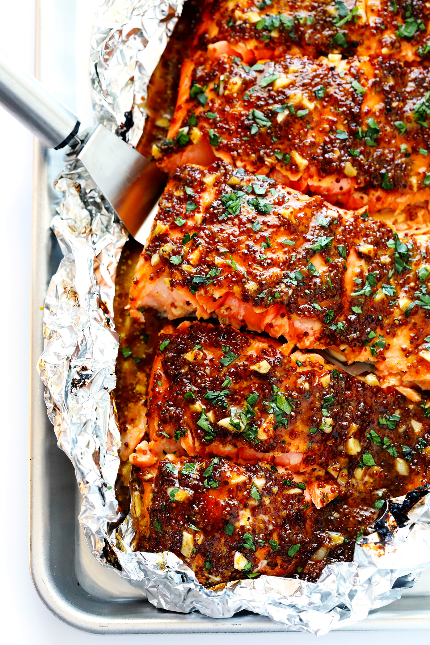 Honey Mustard Salmon in Foil | 25+ Foil Packet Dinners