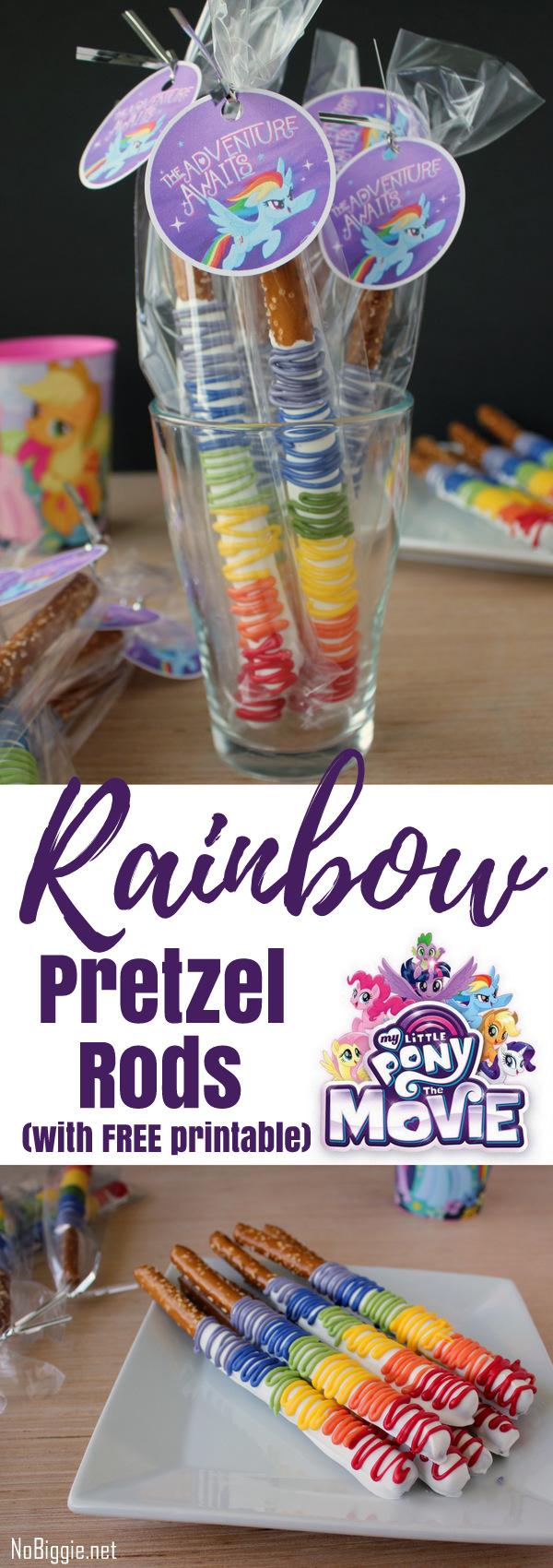 My Little Pony The Movie Rainbow Pretzel Rods | NoBiggie.net