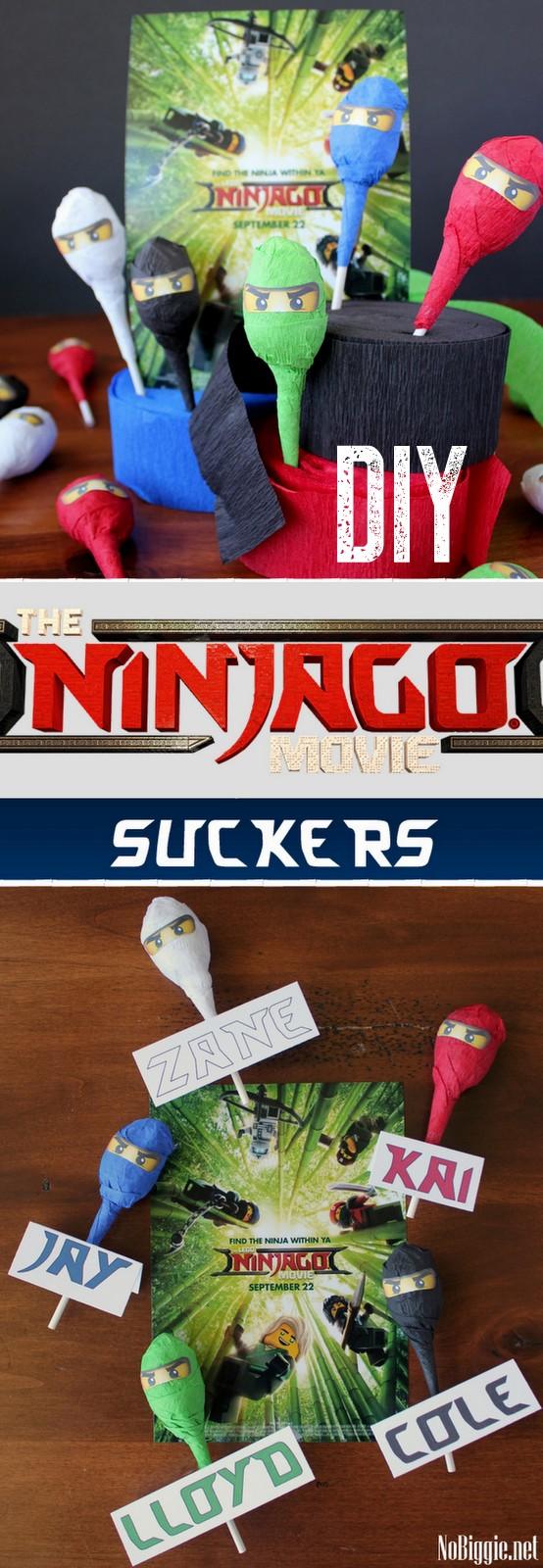 DIY Lego Ninjago Movie Suckers | NoBiggie.net