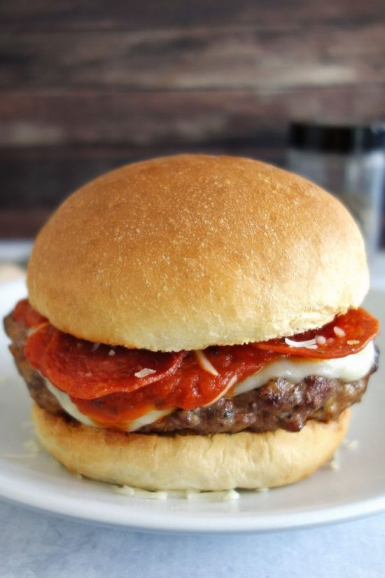 Pepperoni Pizza Burger | 25+ Pizza Everything Recipes