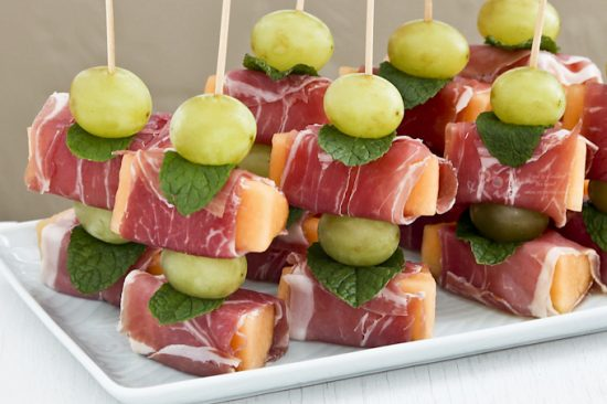 Prosciutto Wrapped Melon | 25+ Easy No Cook Appetizers