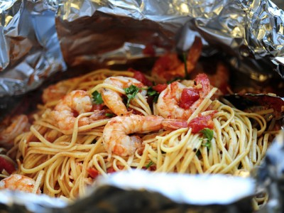 Shrimp Pasta in a Foil Package | 25+ Foil Packet Dinners