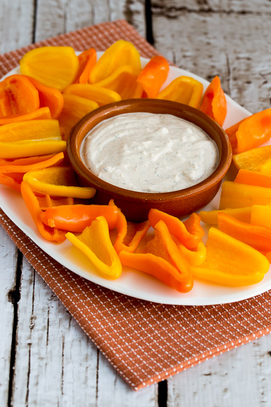 Southwestern Ranch Dip and Sweet Mini Peppers | 25+ Easy No Cook Appetizers