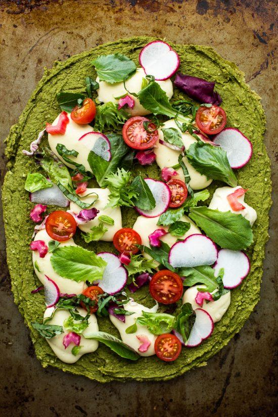 Split Pea Spinach Pizza Crust | 25+ Creative Pizza Crusts