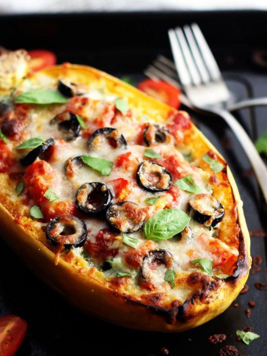 Veggie Pizza Spaghetti Squash Boats | 25+ Pizza Everything Recipes