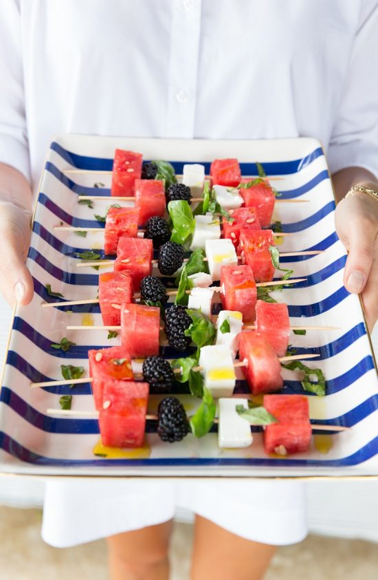 Watermelon Skewers | 25+ Easy No Cook Appetizers
